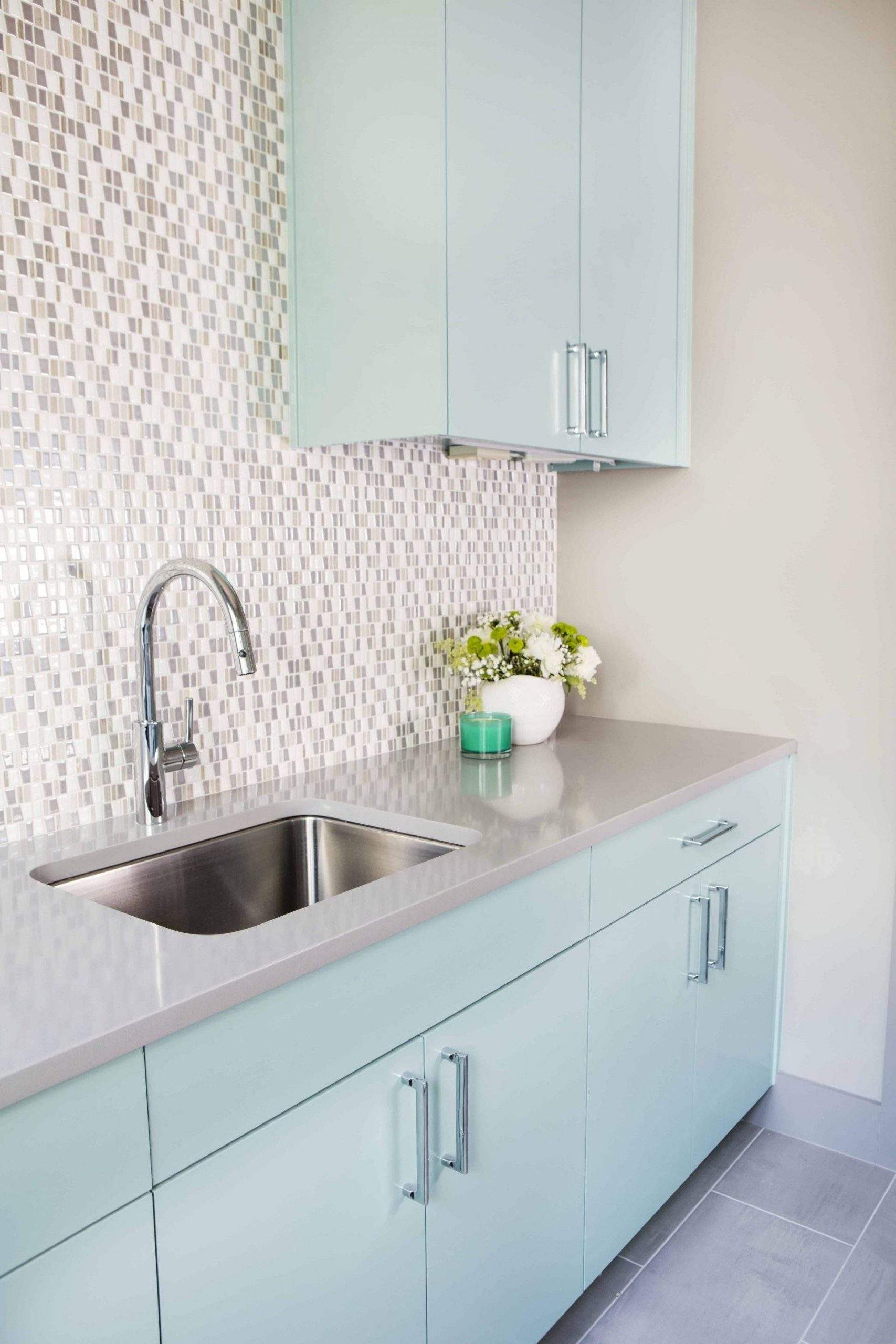 Interior Design, Sink with light blue cabinets, Etch Interior Design, Austin, Texas