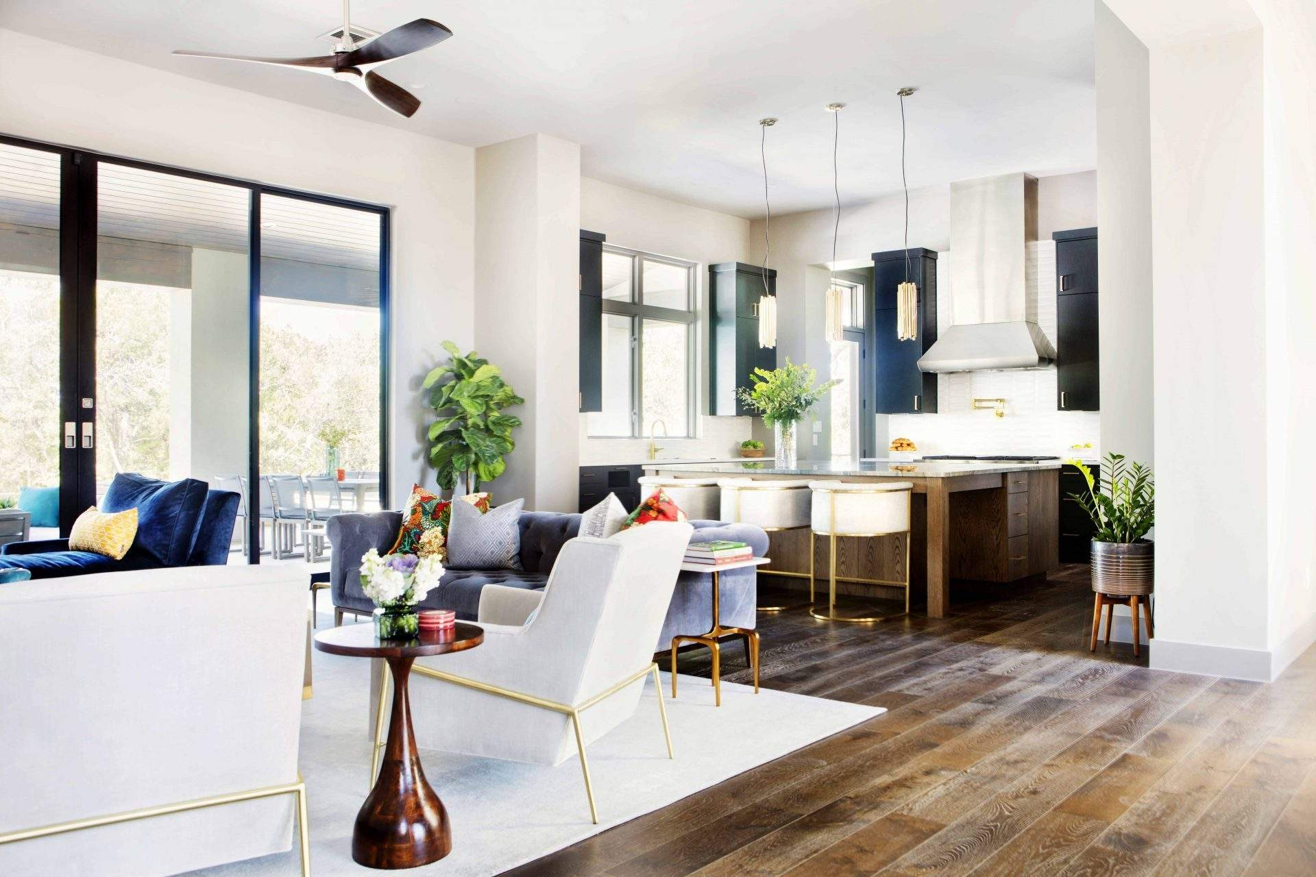 Houzz tour contemporary eclectic and family friendly - Austin interior design firms ...