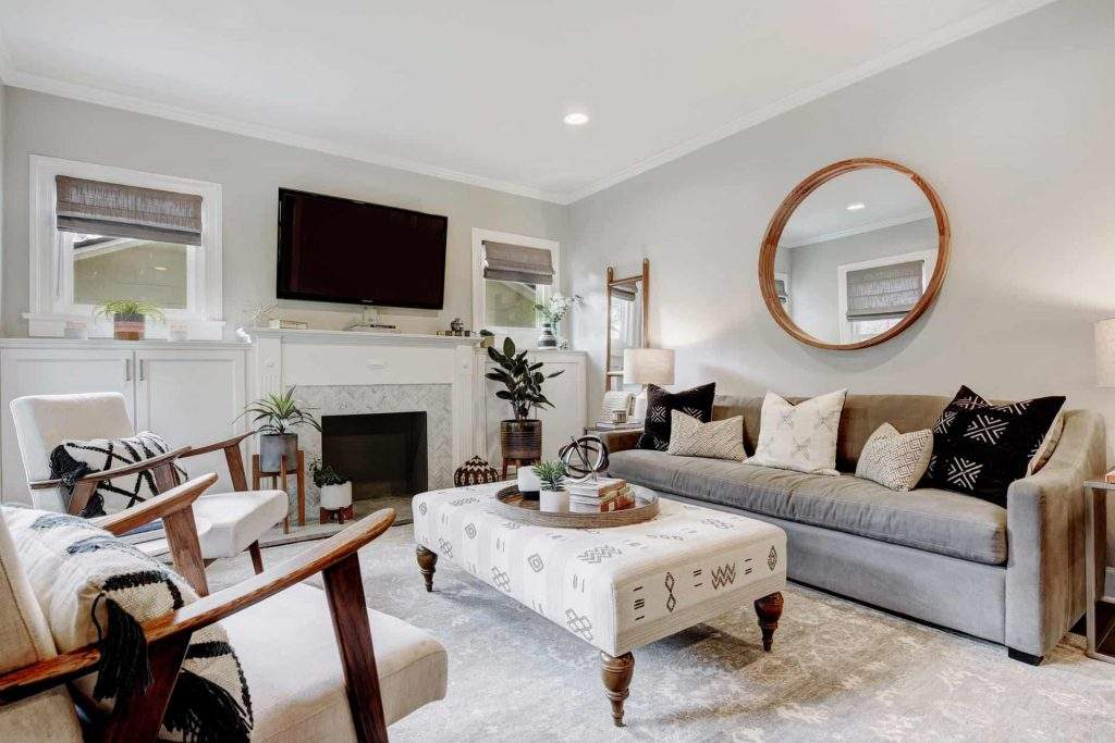 Interior Design, Gray Matters Living Area, Etch Interior Design, Austin, Texas