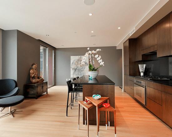 Home Interior Design, Modern Kitchen with Bar Setting, Etch Interior Design, Austin, Texas
