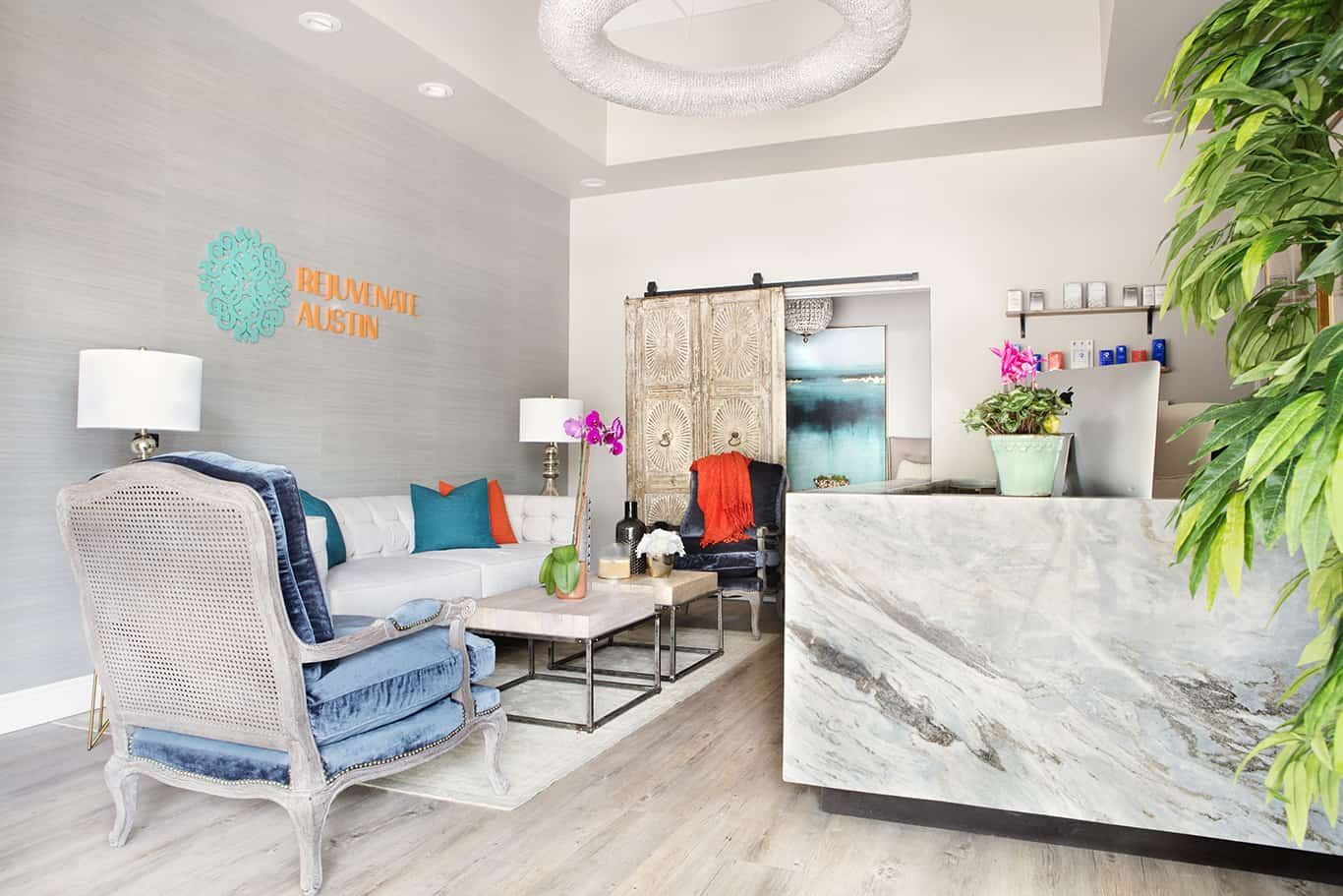 Etch Design Group - designed to give Rejuvenate Austin Medspa a soft and tranquil feel.