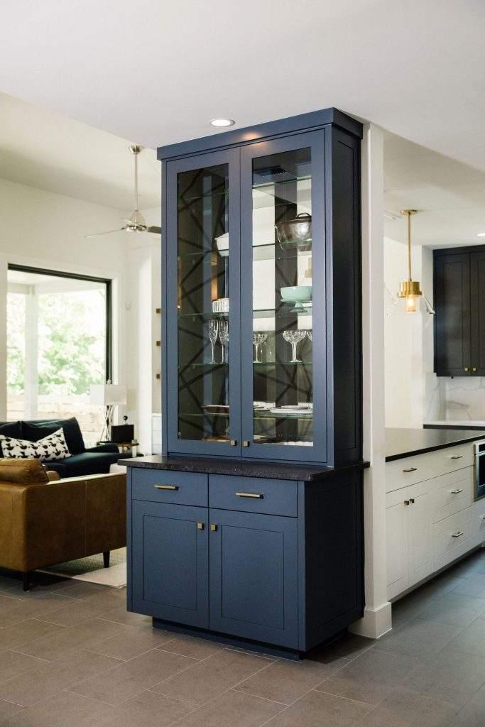 interior design remodel | china cabinet | austin, texas