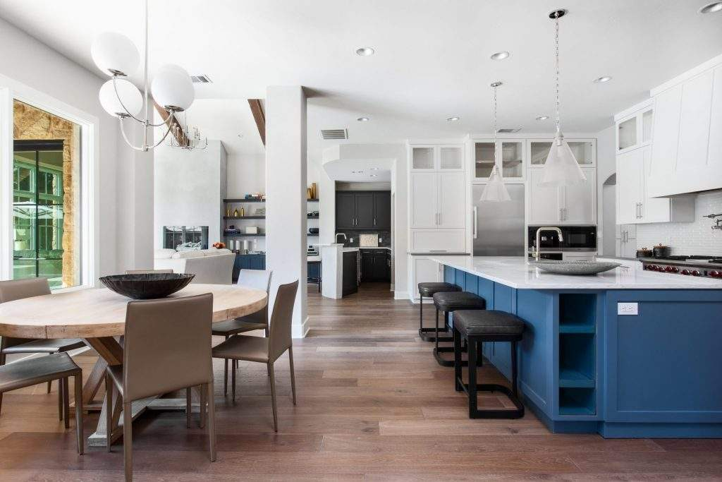 interior design remodel | kitchen remodel to sell open concept with dining | austin, texas