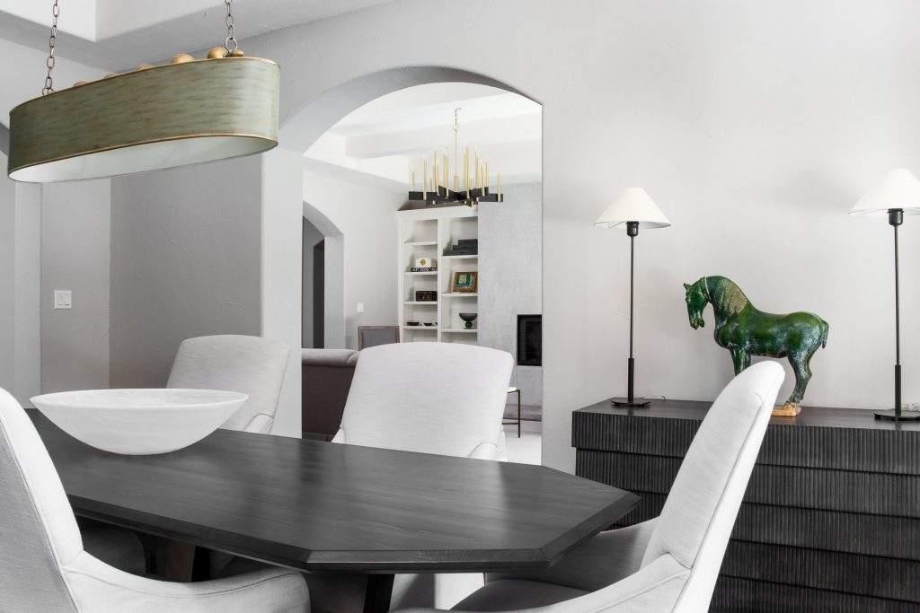 interior design austin | dining room and horse statue | austin, texas