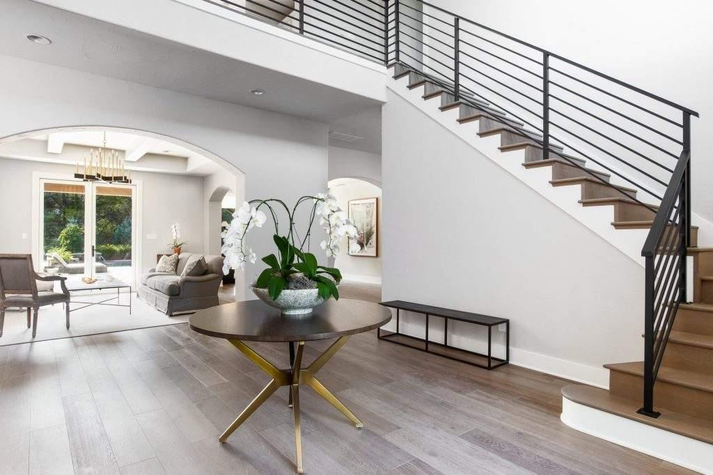 interior design austin | round table with staircase | austin, texas