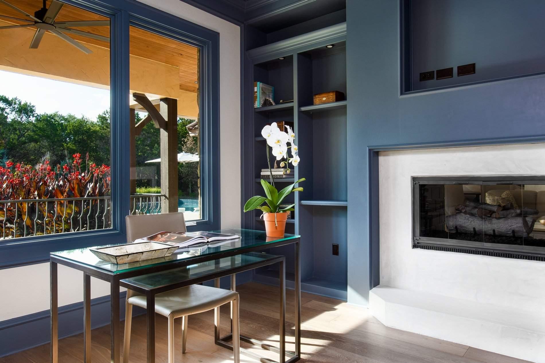 interior design austin | white fireplace | austin, texas