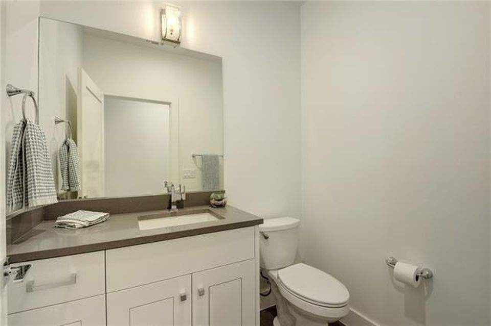 interior design remodel | bathroom cabinet with stool | austin, texas