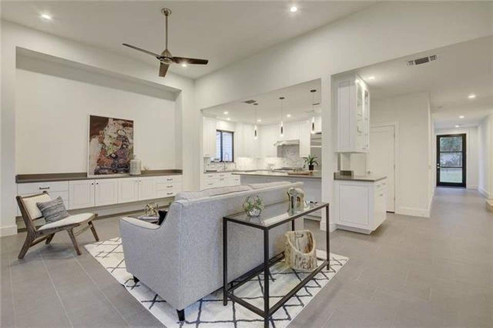 interior design remodel | seating area with sofa | austin, texas