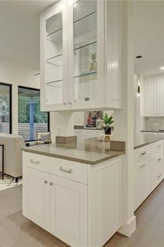 interior design remodel | white china cabinet | austin, texas