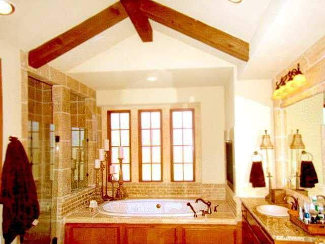 interior design austin | bathtub with 3 windows | austin, texas