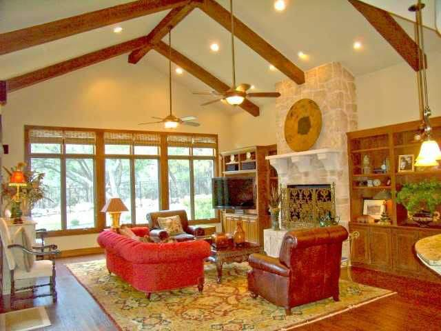 interior design austin | living room with vaulted ceiling | austin, texas