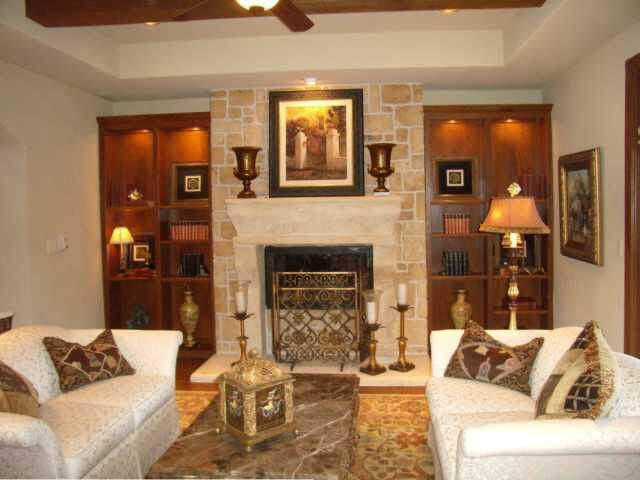 interior design austin | living room with fireplace | austin, texas