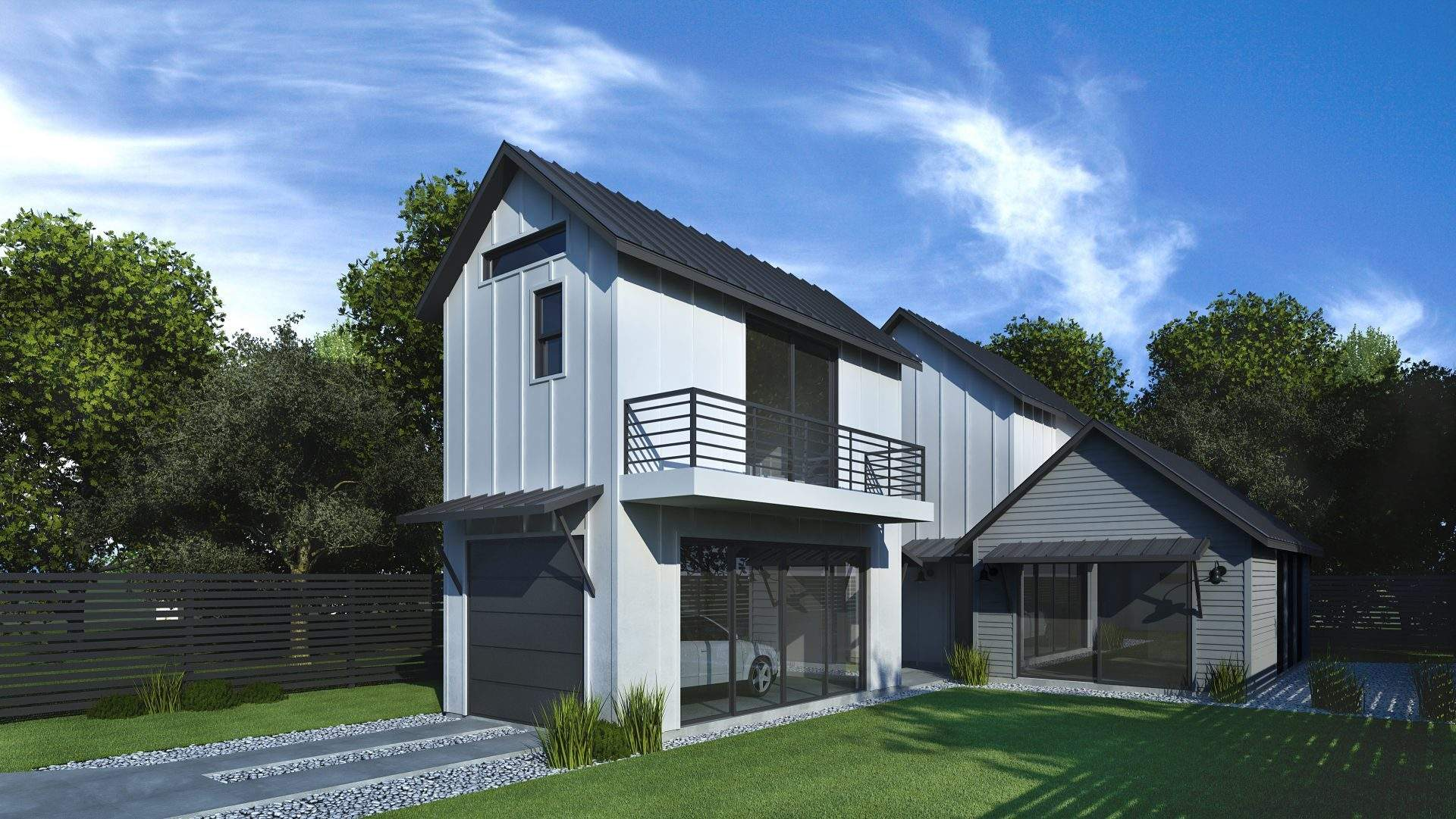 Back house-White with grey accents