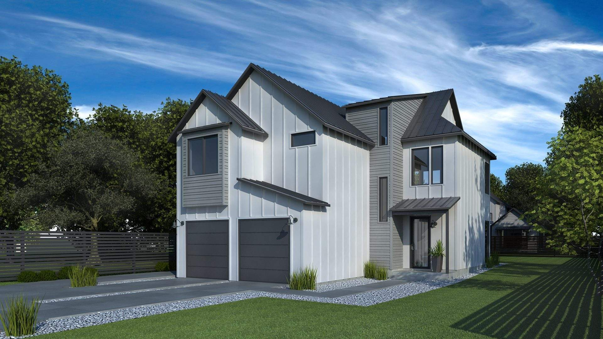 Main house-White with Grey accents
