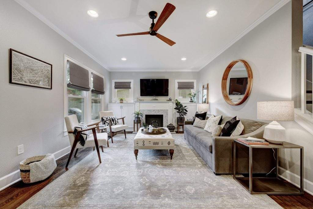 home interiors Austin | living room remodel after | austin, texas