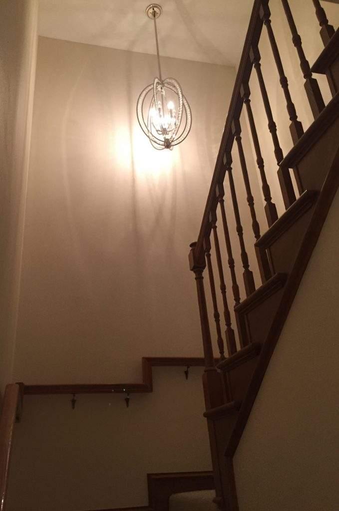 home interiors Austin | courtyard staircase before | austin, texas