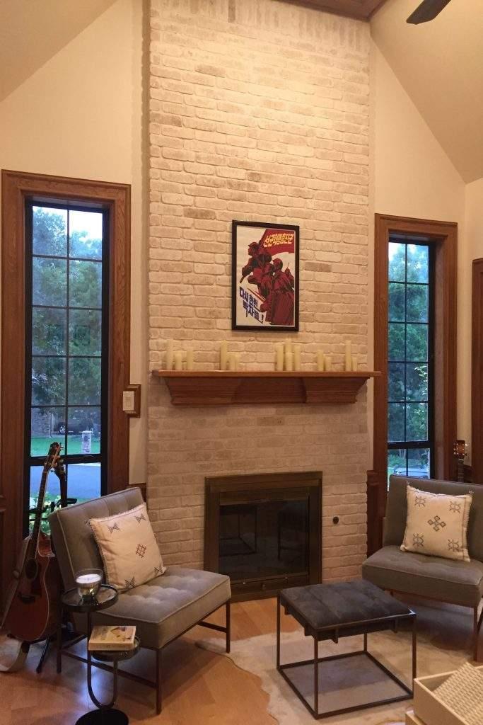 home interiors Austin | courtyard fireplace 2 before | austin, texas
