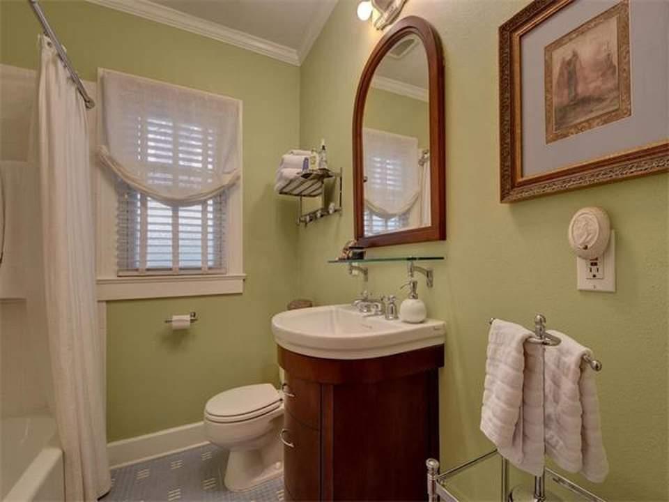 home interiors Austin | bryker woods 2 bathroom vanity and stool before| austin, texas