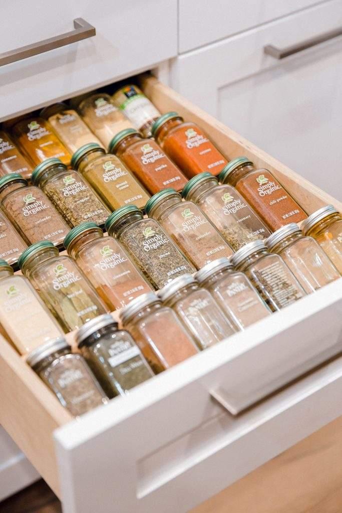 kitchen remodel in Austin Texas | travis country spice drawer | austin, texas
