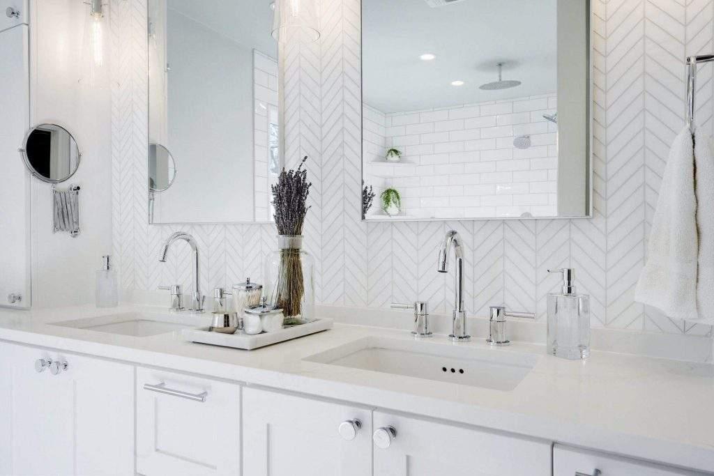 Allandale - interior design Austin | double sinks with mirrors above | austin, texas