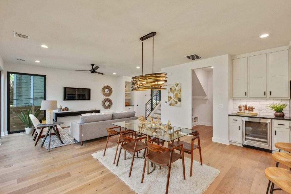 Home Interior Design, Open Floor Plan with Dining Area, Etch Interior Design, Austin, Texas