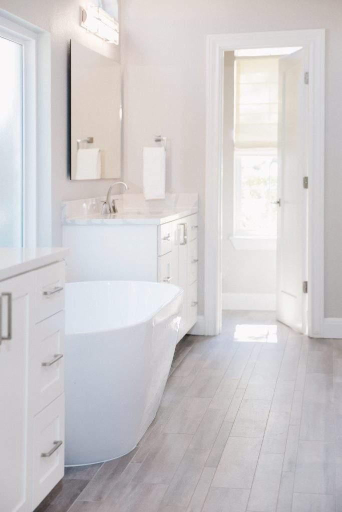 Northwest Balcones - interior design austin | free standing tub and vanity 1 | austin, texas