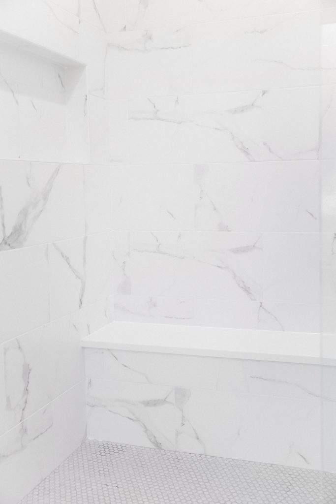 Northwest Balcones - interior design austin | shower with bench | austin, texas