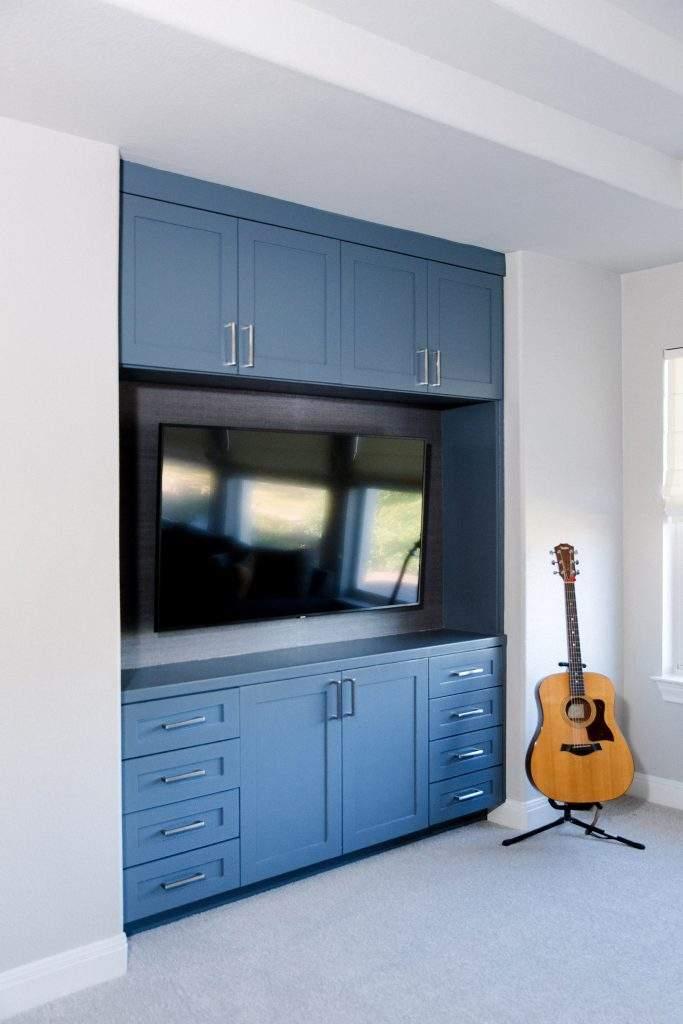 Northwest Balcones - interior design austin | build in blue entertainment center | austin, texas