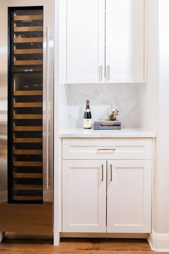 Northwest Balcones - interior design austin | cabinet with wine cooler | austin, texas