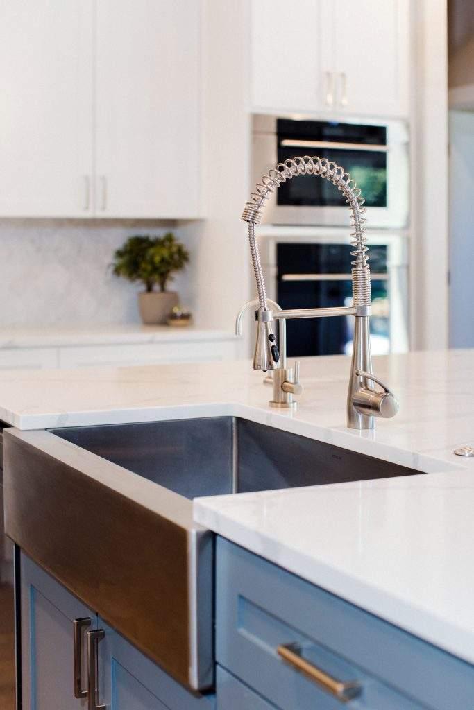 Northwest Balcones - interior design austin | farm sink with fixture | austin, texas