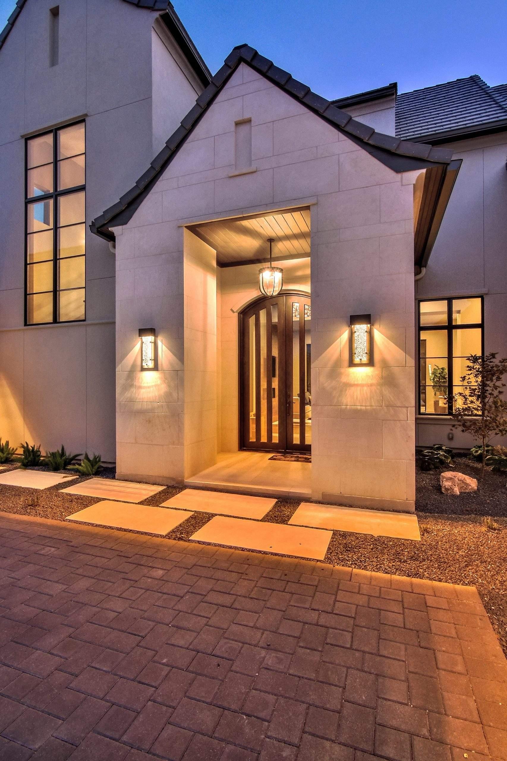 Interior Design, Front Door Lighting, Etch Interior Design, Austin, Texas
