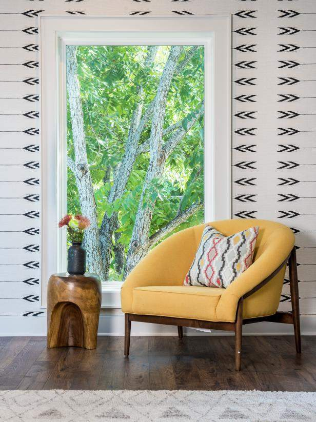 Home Interior Design, Yellow Chair by Window, Etch Interior Design, Austin, Texas