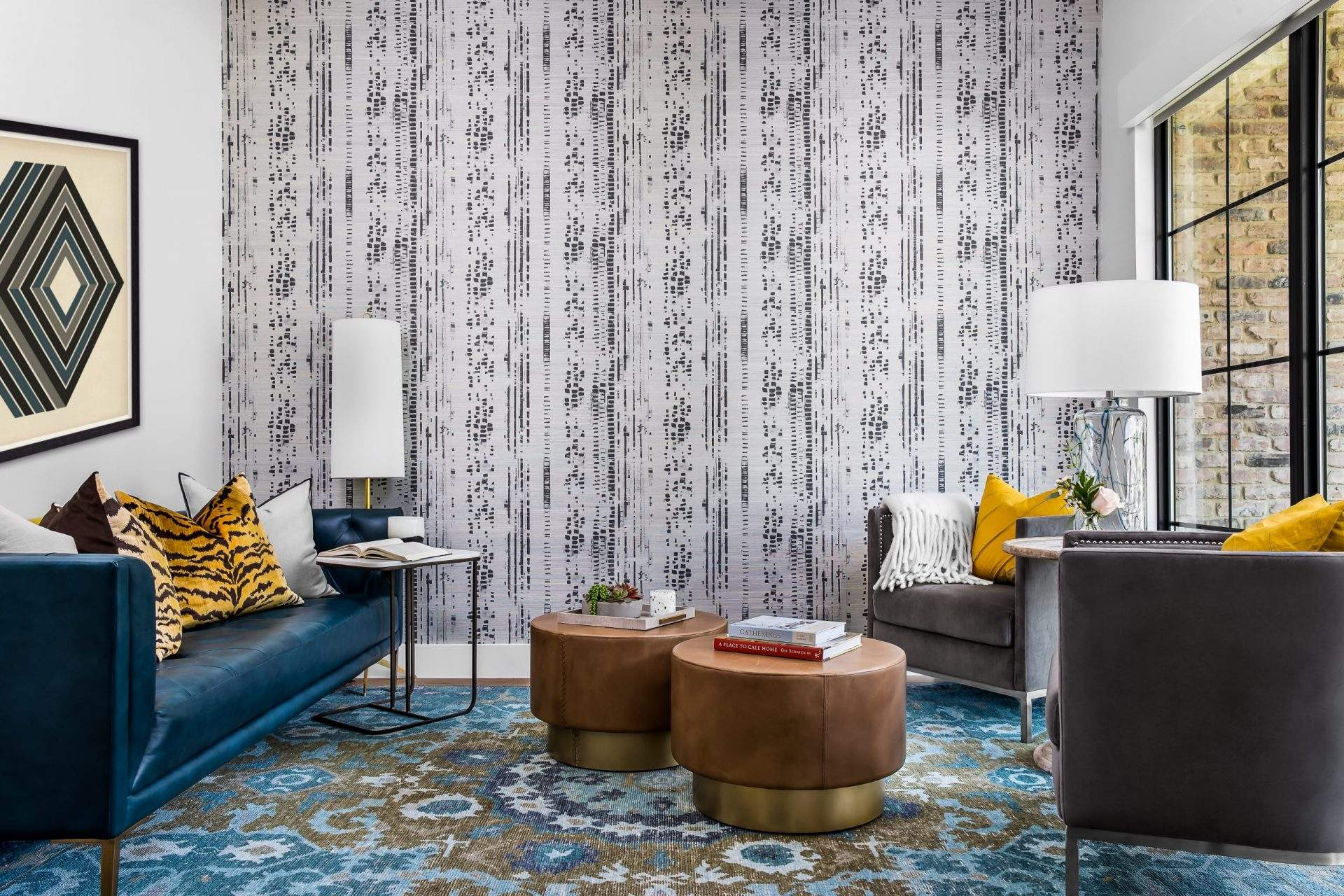 Interior Design, Wallpapered Accent Wall