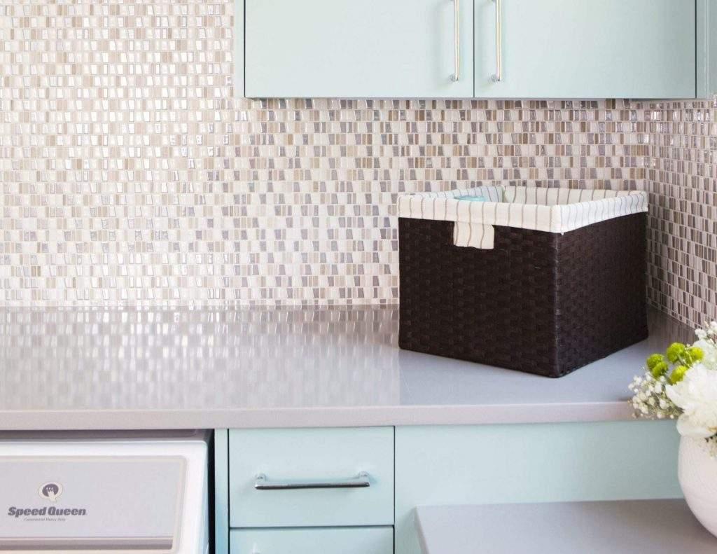 Interior Design, Backsplash with basket, Etch Interior Design, Austin, Texas