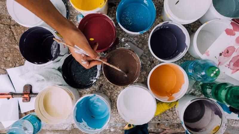 Interior Design, Paint Buckets, Etch Interior Design, Austin, Texas